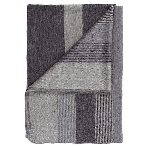 Alpaca Throw, Charcoal