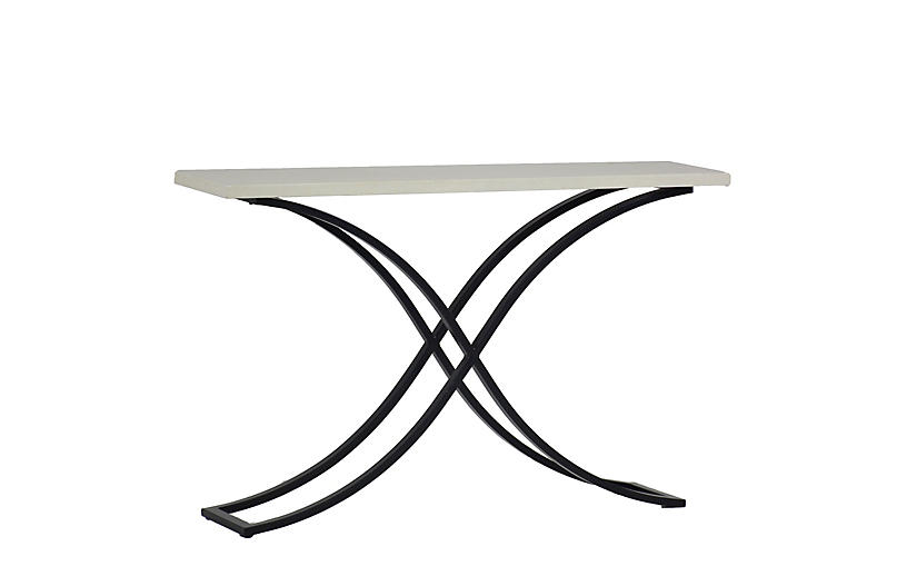 Marco Outdoor Console, Gray/White