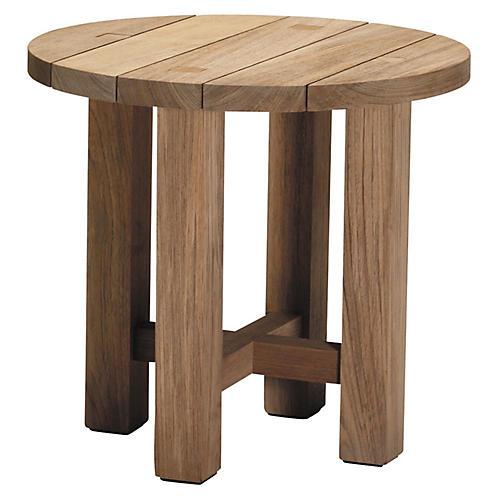 Croquet Teak Side Table, Teak