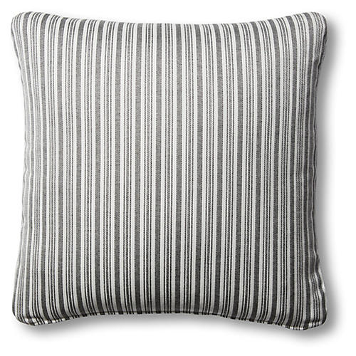S/2 Alice Outdoor Pillows, Black/White