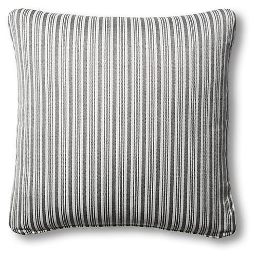 S/2 Alice Outdoor Pillows, Black/White