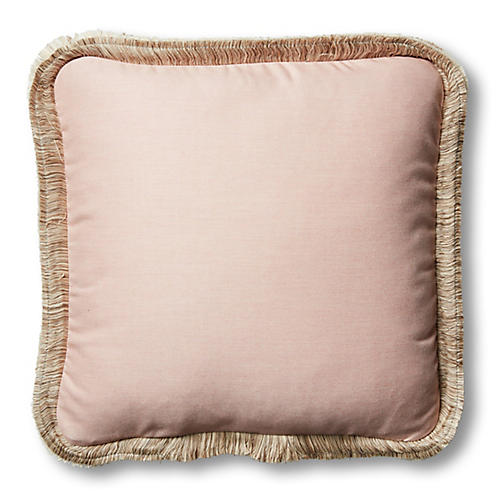 Della 18x18 Outdoor Pillow, Blush Pink