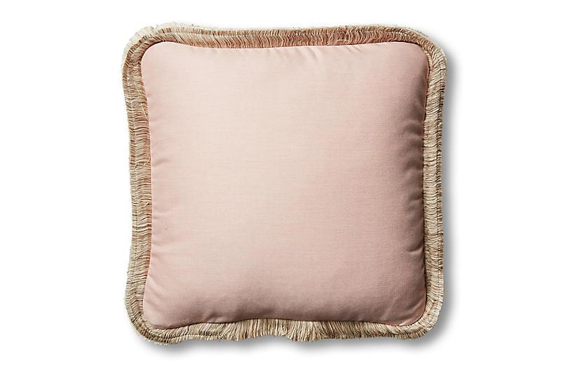 Della 18x18 Outdoor Pillow, Blush Pink