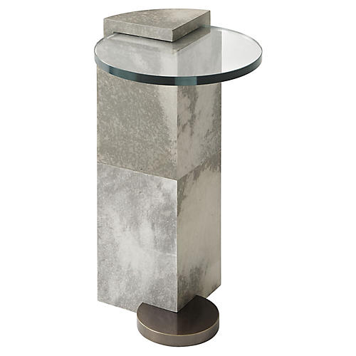 Elevation Side Table, Graphite/Ivory