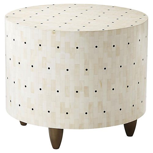 Dot Side Table, Ivory