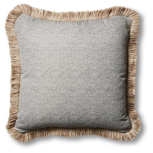 Astoria 18x18 Outdoor Pillow, Carbon