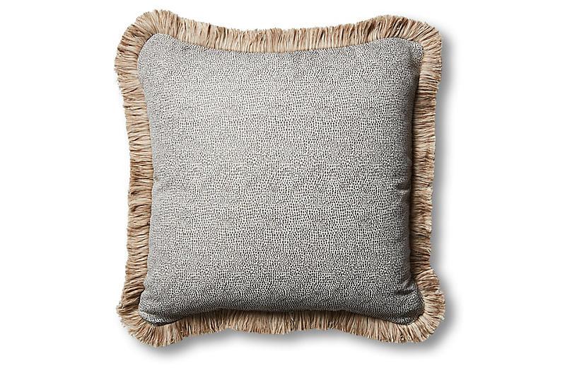 Astoria 18x18 Outdoor Pillow, Carbon
