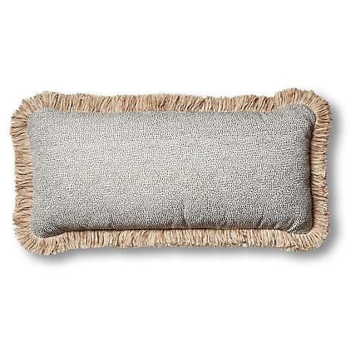 S/2 Astoria Outdoor Lumbar Pillows, Carbon