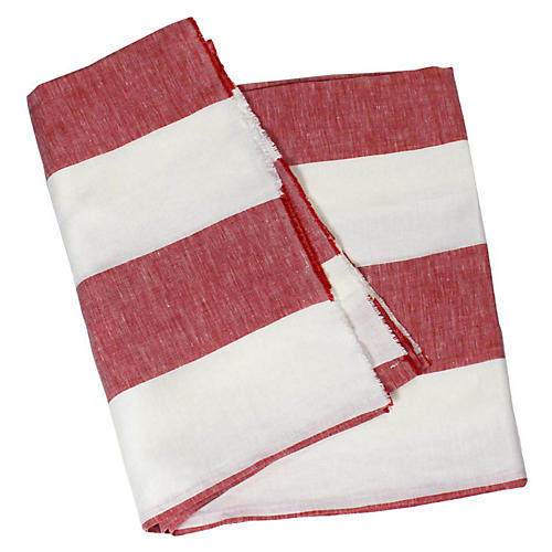 Harbour Island Beach Towel, Red