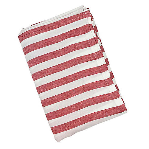 Sur La Mer Beach Towel, Red
