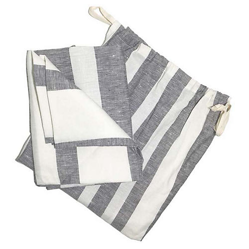 Majorca Beach Towel, Charcoal