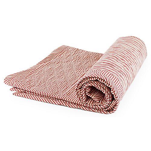 Toulouse Cotton Throw, Red/White