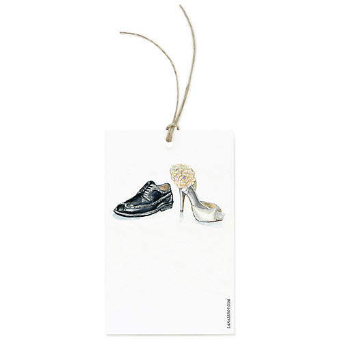 S/12 Wedding Shoes Gift Tags