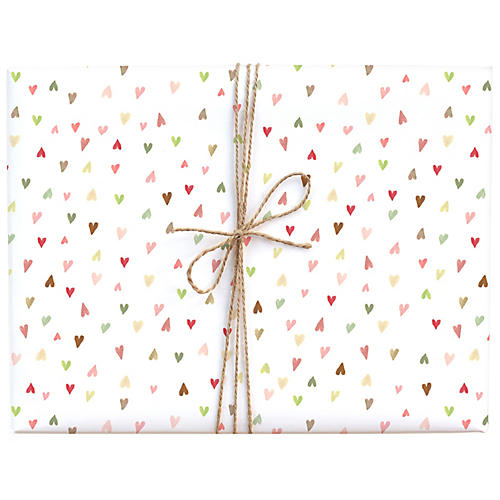 S/3 Mini-Hearts Gift Wrap