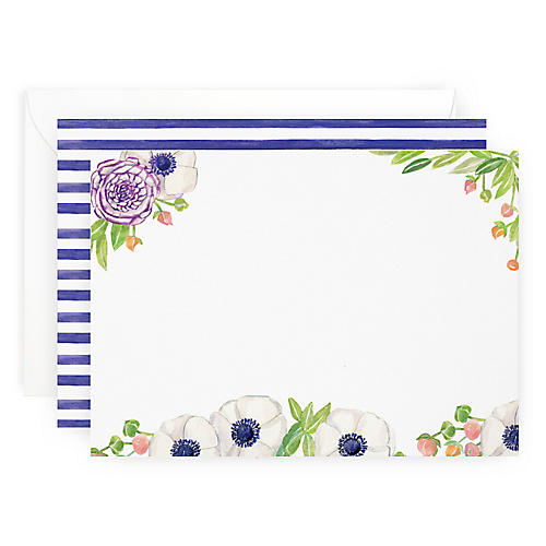 S/10 Floral Note Cards