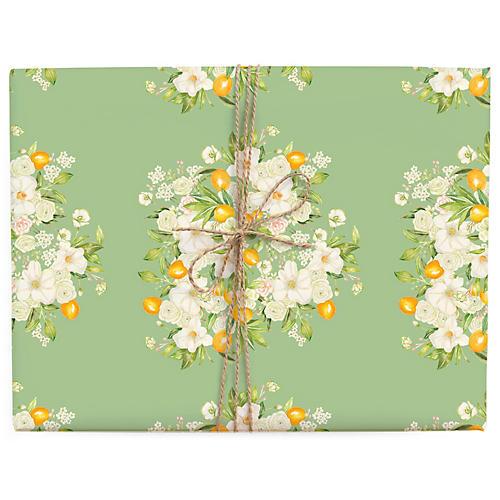 S/3 Floral Bursts Gift Wrap