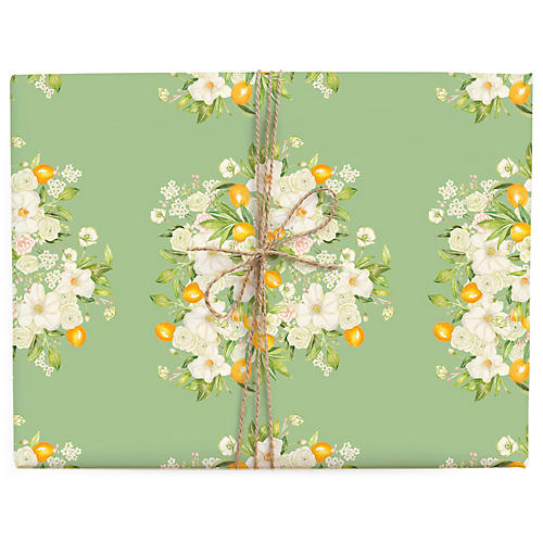 S/3 Floral Bursts Gift Wrap