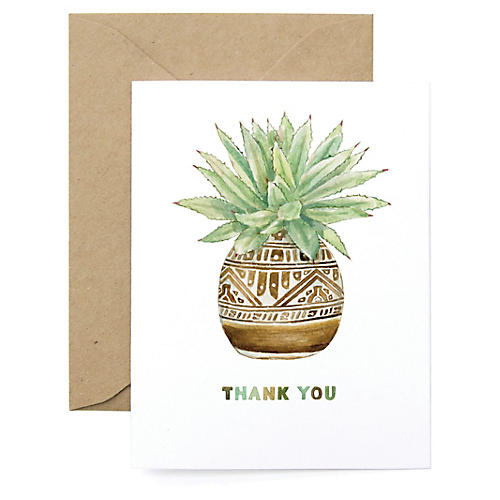 S/8 Planter Thank You Cards