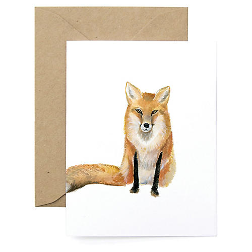 S/8 Fox Note Cards