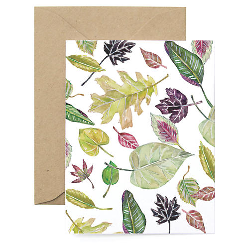 S/8 Leaf Note Cards