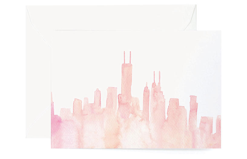 Set of 8 Chicago Note Cards - Lana's Shop