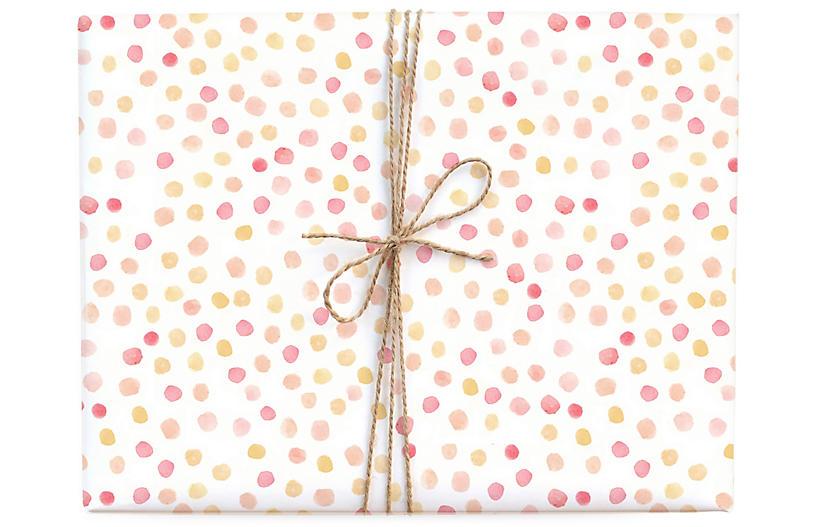 S/3 Polka Dot Gift Wrap