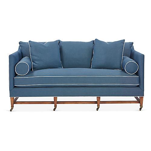 Brentwood Sofa, Blue Linen