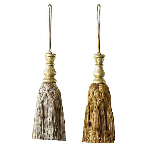 Asst. of 2 Tassel Ornaments, Silver/Gold