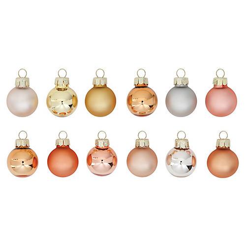 S/24 Metallic Ornaments, Coral/Multi