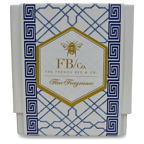 Navy Fretwork Candle, Lavender