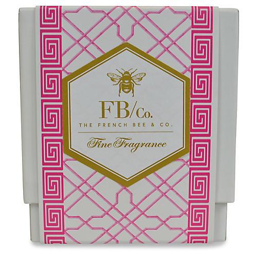 Pink Fretwork Candle, Hydrangea