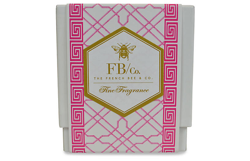 Pink Fretwork Candle, Hydrangea