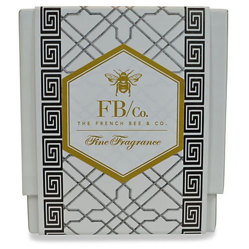 Black Fretwork Candle, Hydrangea
