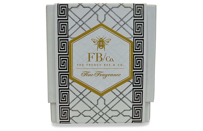 Black Fretwork Candle, Orange Blossom