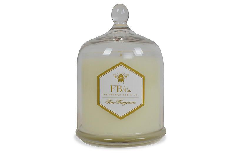 Cloche Candle, Fresh Linen