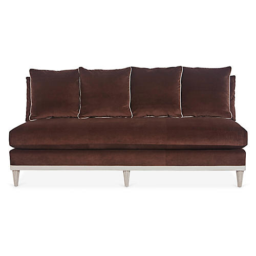 Pacific Heights Sofa, Brown Velvet