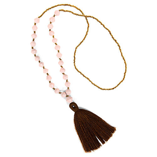 Tassel Necklace, Desert Rose