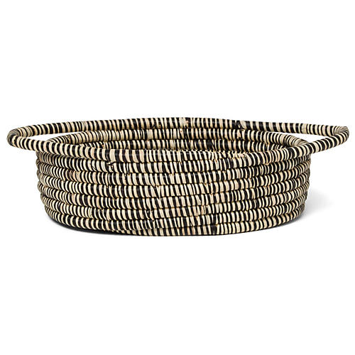 "12"" Tiya Basket, Black/White"