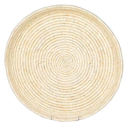 """16"""" Kei Moroto Decorative Tray, Natural"""