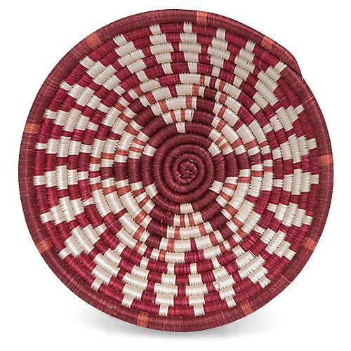 "6"" Karew Intore Basket, Fiery Red/White"