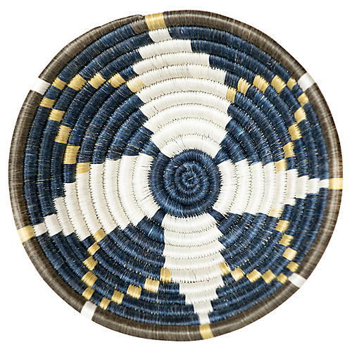 "6"" Karew Busia Basket, Blue Night/Gold"