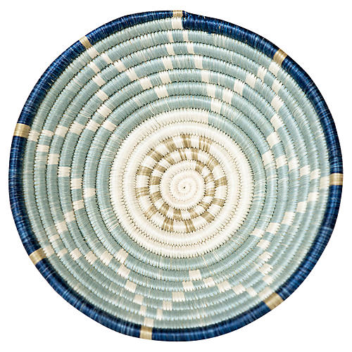 "6"" Karew Ibanda Basket, Silver-Blue"