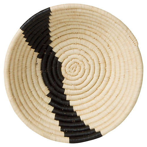 "6"" Dolow Stripe Decorative Bowl, Natural/Black"