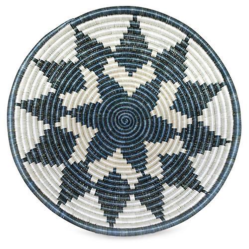 "16"" Dancer Decorative Tray, Smoke Gray/White"