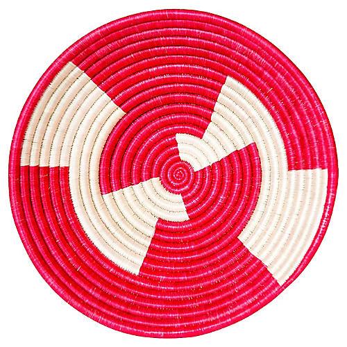 "12"" Korren Inka Basket, Hibiscus"