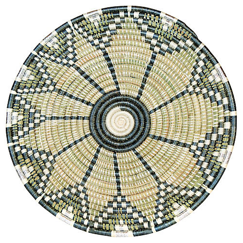Intore Embu Place Mat, Metallic Gray/Multi