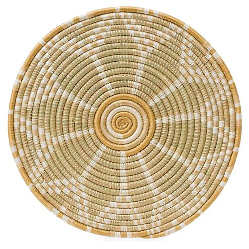 Kwizera Bondo Place Mat, Soft Gold/Khaki