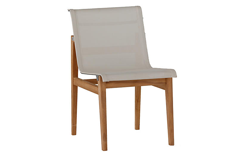 Coast Outdoor Side Chair, Ivory