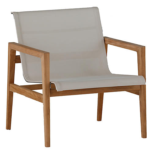 Coast Outdoor Lounge Chair, Ivory