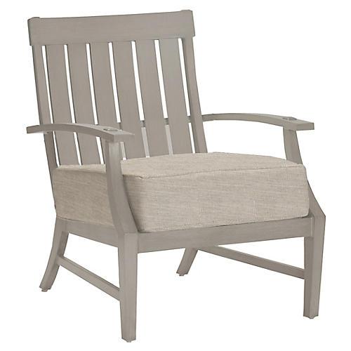 Croquet Club Chair, Dove Sunbrella